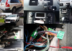 ipod car kit installed in a Volvo XC90