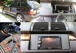 Double Din Multimedia screen BMW X5