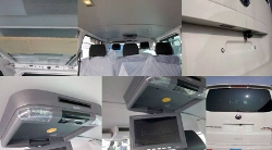 roof mounted dvd player for vw transpoter. install installer fitter