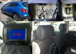 Rear screen dvd headrest install installer fitter