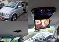 alpine roof mounted dvd player for mercedes vivaro